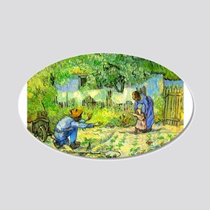 The First Step by Vincent van Gogh. 20x12 Oval Wal
