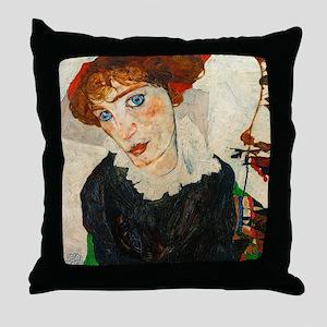 Schiele - Wally Neuzil Throw Pillow