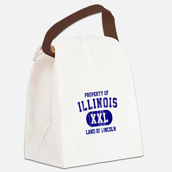 Property of Illinois the Land of Lincoln Canvas Lu