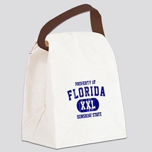 Property of Florida the Sunshine Canvas Lunch Bag