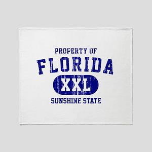 Property of Florida the Sunshine Sta Throw Blanket