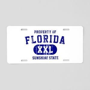 Property of Florida the Sun Aluminum License Plate