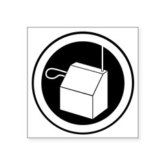 "Theremin Rock Square Sticker 3"" x 3"""