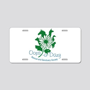 Oops-a-Dazy Logo Aluminum License Plate