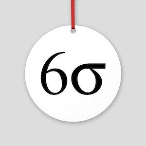 6 Sigma Ornament (Round)