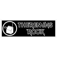 theremin bumper sticker