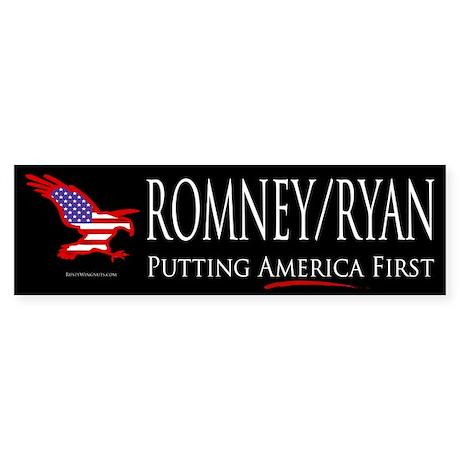 Romney/Ryan - Putting America First Sticker (Bumpe