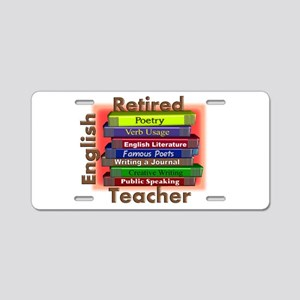 Retired English Teacher Book Stack Aluminum Li