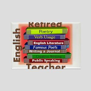 Retired English Teacher Book Stack Rectangle M