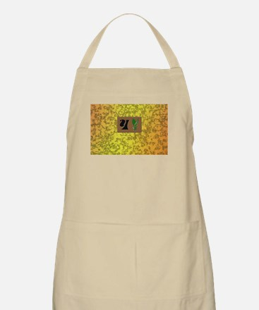 monogram Y with lily of the valley Apron