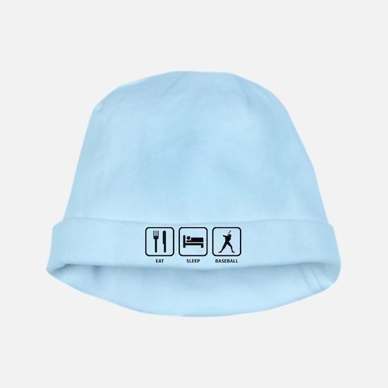 Eat Sleep Baseball baby hat