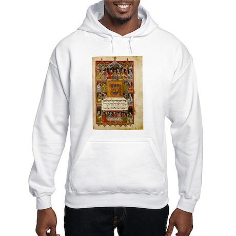14th Century Haggadah Hooded Sweatshirt