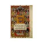 14th Cent. Haggadah Rectangle Magnet (100 pack)