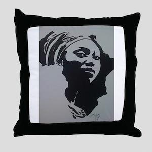 MOTHER AFRICA Throw Pillow