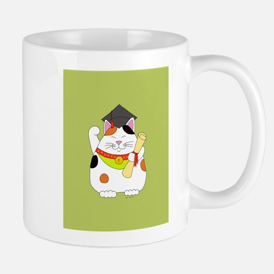 Graduation Maneki Neko Mug