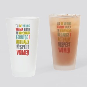 Respect Women Drinking Glass