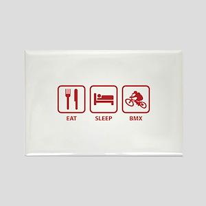 Eat Sleep BMX Rectangle Magnet