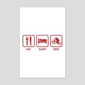 Eat Sleep BMX Mini Poster Print