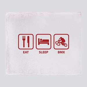 Eat Sleep BMX Throw Blanket