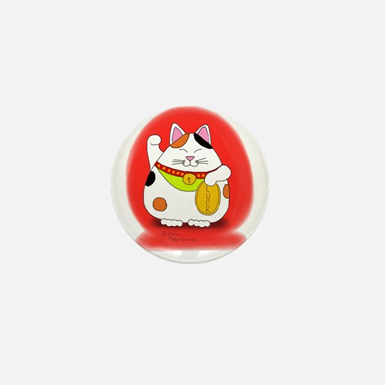 Good Luck Maneki Neko Mini Button