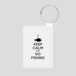 Keep calm and go fishing Aluminum Photo Keychain