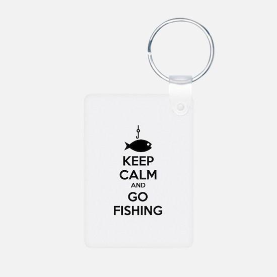 Keep calm and go fishing Keychains