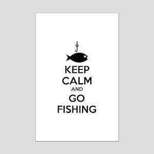 Keep calm and go fishing Mini Poster Print