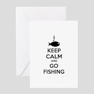 Keep calm and go fishing Greeting Card