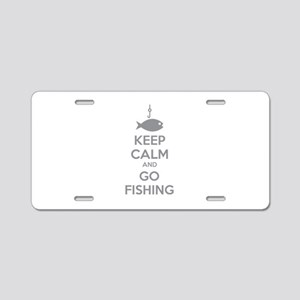 Keep calm and go fishing Aluminum License Plate