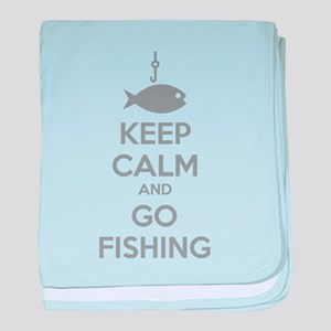 Keep calm and go fishing baby blanket