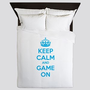 Keep calm and game on Queen Duvet