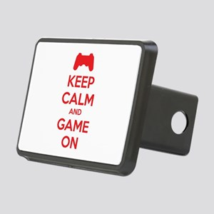 Keep calm and game on Rectangular Hitch Cover