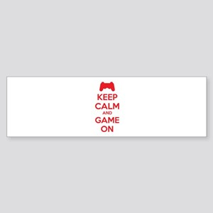 Keep calm and game on Sticker (Bumper)