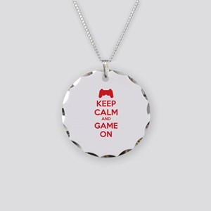 Keep calm and game on Necklace Circle Charm