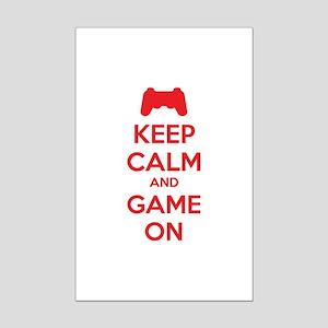 Keep calm and game on Mini Poster Print