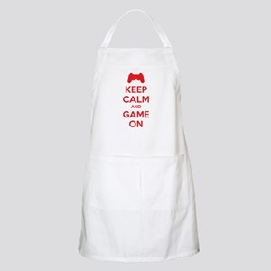 Keep calm and game on Apron