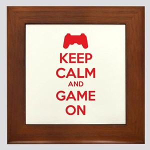 Keep calm and game on Framed Tile