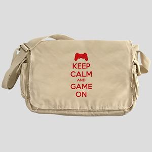 Keep calm and game on Messenger Bag