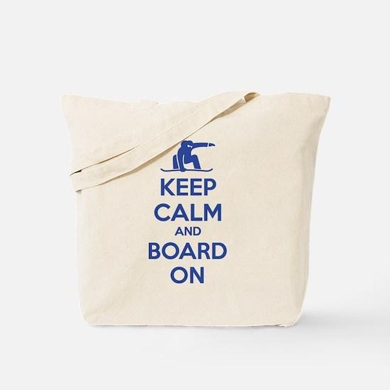 Keep calm and board on Tote Bag