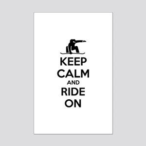 Keep calm and ride on Mini Poster Print