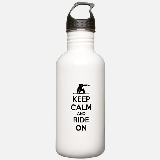 Keep calm and ride on Water Bottle