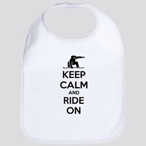 Keep calm and ride on Bib