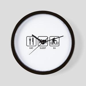 Eat Sleep DJ Wall Clock