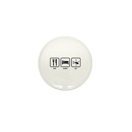 Eat Sleep Fly Mini Button (100 pack)