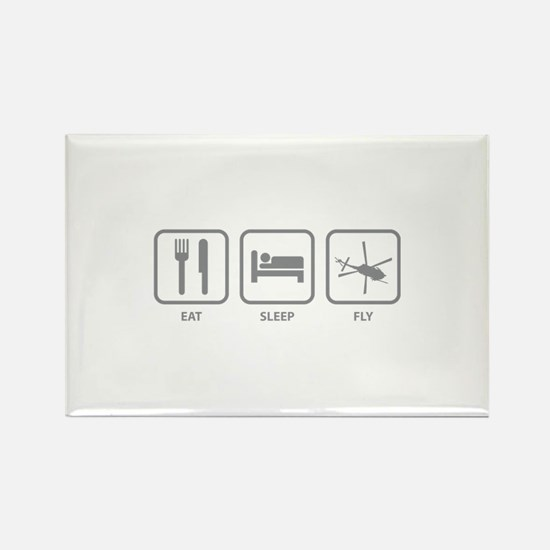 Eat Sleep Fly Rectangle Magnet