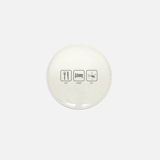 Eat Sleep Fly Mini Button