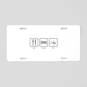 Eat Sleep Fly Aluminum License Plate