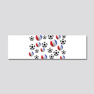 France Soccer Balls Car Magnet 10 x 3