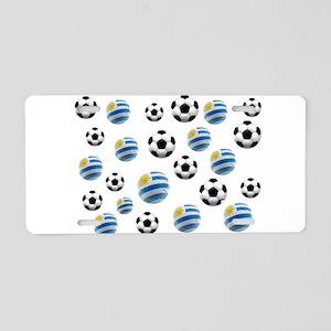 Uruguay Soccer Balls Aluminum License Plate