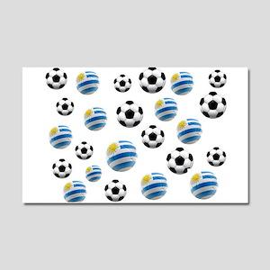 Uruguay Soccer Balls Car Magnet 20 x 12